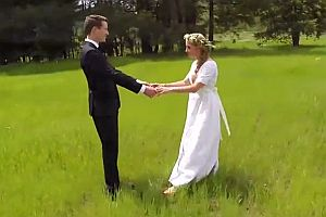Hochzeitsvideo mit einer Drohne