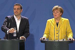 Tsipras und Merkel sprachlos