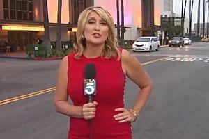 Schreckhafte Reporterin