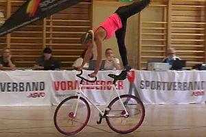 Akrobatik auf dem Fahrrad