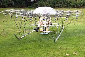 Flug mit einem Drohnencopter