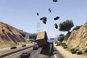 Mit einem Rampen-Truck durch GTA 5