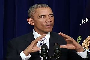 Barack Obama als Michael Jackson