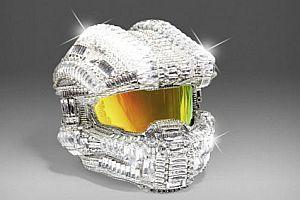Halo Helm aus Swarovskisteinen