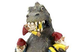 Dinosaurier-Gartenzwerg-Massaker