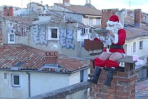 Remi als Weihnachtsmann