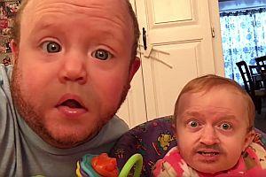 Vater und Sohn Face Swap Live