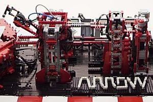 Papierflieger-Maschine aus Lego