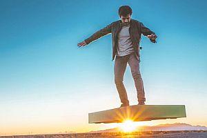 Ein Hoverboard