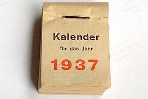 Abreißkalender von 1937