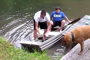 Bootausstieg ins Wasser