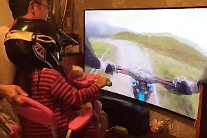 Virtuelle Mountainbike-Abfahrt