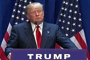 Donald Trump mit einer sprachlosen Rede