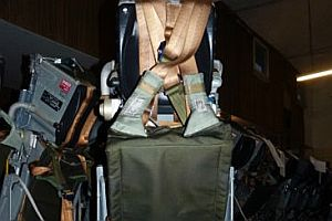 Schleudersitz aus einem Tornado