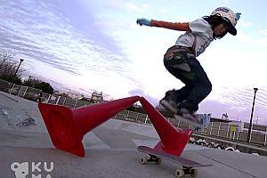 12jähriger Skateboarder