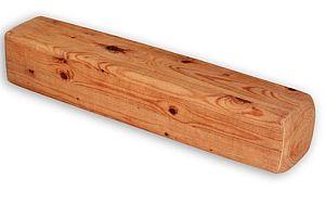 Holzstück als Nackenrolle