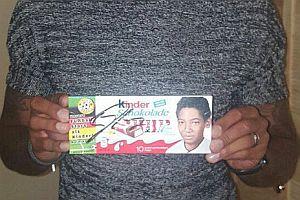 Signierte Kinderschokolade von Boateng
