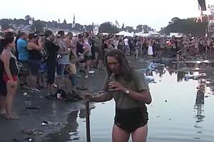 Bierrettung auf einem Festival