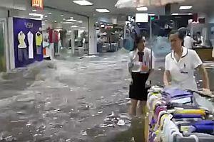 Überschwemmung im Einkaufszentrum