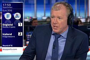 Steve Mcclaren erlebt das 2:1 für Island