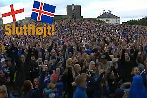 Isländische Fans jubeln übers Viertelfinale