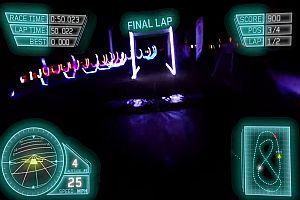 Drohnenrennen in der Dunkelheit