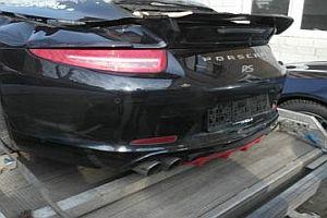 Porsche mit Brandschaden