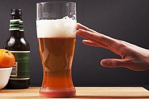 Ein Bierglas, dass nicht umfällt