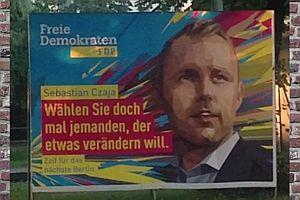 Sprechende Politikerplakate