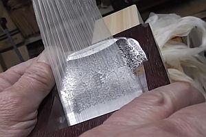 Extrem dünner Holzschnitt