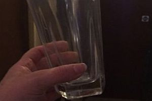 Ein Milchglas von Justin Bieber