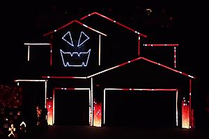 Halloween Light Show 2016
