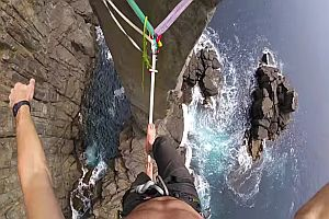 Slackline the Moai Tower