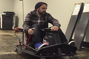 Kartfahren im Büro