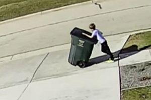 Mülltonne wehrt sich