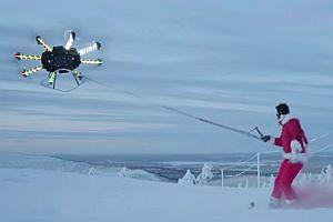 Snowboarding mit einer Drohne