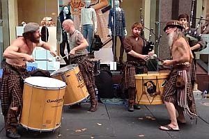 Schottische Straßenmusiker