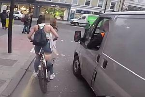 Rache einer Radfahrerin