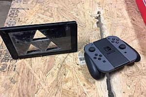 Nintendo Switch zerschnitten