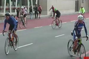 Stürmisches Radrennen in Südafrika