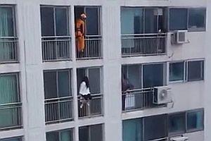 Rettung einer Frau