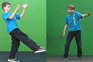 Junge nach zwei Jahren Tanztraining