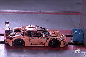 Crash Test mit einem Lego Porsche