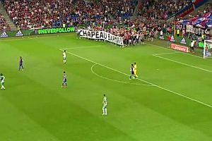 FC Basel Fans verabschieden ihren Präsidenten