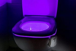 Buntes Licht für die Toilette