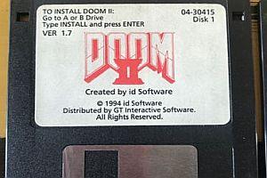 Doom 2 Disketten vom Spieleentwickler
