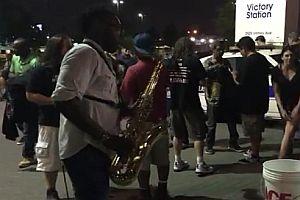 Iron Maiden auf dem Saxophon