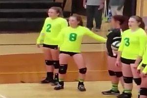 Tanzen beim Volleyball