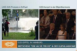 N24 zeigt Splitscreen zum G20-Gipfel
