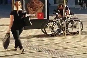 Erwischter Fahrraddieb
